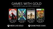 Microsoft announces Games With Gold in November